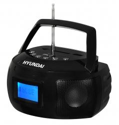 Аудиомагнитола Hyundai H-PAS140 черный 6Вт/MP3/FM(dig)/USB/SD